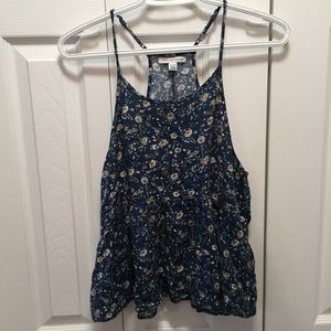 American Eagle Babydoll Pendulum Floral Tank Top